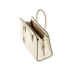 Bolsa de mano en eco-piel con estampado de cocodrilo color blanco, Bolsos, 155702495CCBIANUNI, 004 preview