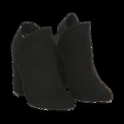 Mules nere in microfibra, tacco 11 cm , Scarpe, 142186941MFNERO035, 002a