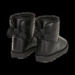 Stivali neri in eco-pelle, Stivaletti, 149916015EPNERO036, 004 preview