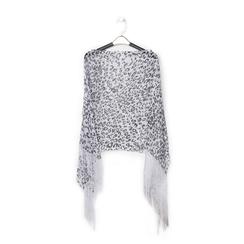 Poncho leopard in tessuto laminato, Abbigliamento, 13B445077TSLEOPUNI, 001 preview