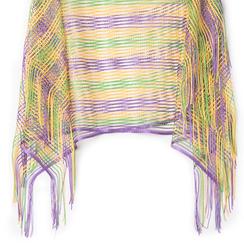 Poncho multicolor in tessuto laminato , Abbigliamento, 13B445051LMMULTUNI, 002 preview