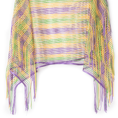 Poncho multicolor in tessuto laminato , Abbigliamento, 13B445051LMMULTUNI, 002a
