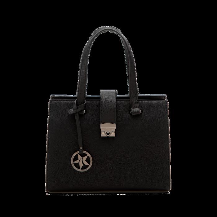 Mini bag nera in ecopelle, Saldi Borse, 125706683EPNEROUNI