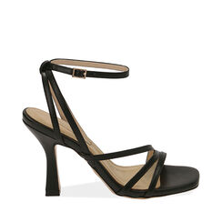 Sandali neri, tacco 9,5 cm , 172183653EPNERO040, 001a