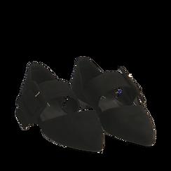 Ballerine a punta nere in microfibra, Primadonna, 164936161MFNERO035, 002a