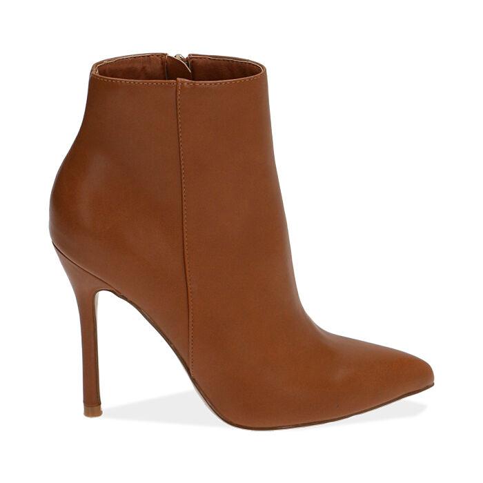 Ankle boots cognac, tacco 11 cm, Primadonna, 172146816EPCOGN035