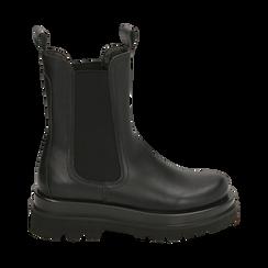 Bottes Chelsea noir, talon 5 cm, Primadonna, 167560723EPNERO036, 001 preview