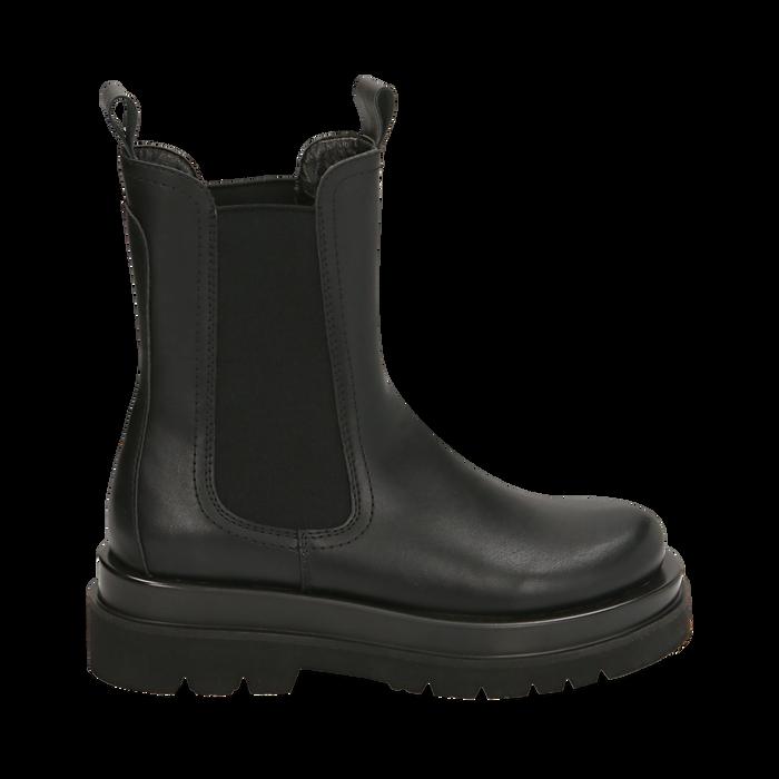 Bottes Chelsea noir, talon 5 cm, Primadonna, 167560723EPNERO036
