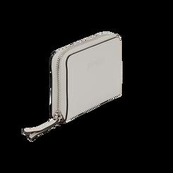Portafoglio compatto bianco in eco-pelle, Borse, 133731344EPBIANUNI, 002 preview