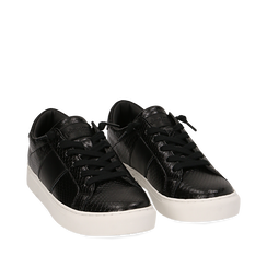 Sneakers noires imprimé vipère, Primadonna, 162619071EVNERO035, 002a