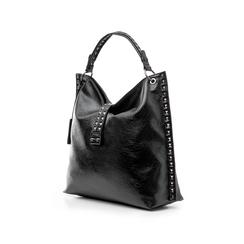 Maxi bag nera in laminato , Borse, 142409318LMNEROUNI, 004 preview