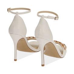 Sandali bianchi con catena, tacco 10,5 cm , Primadonna, 172114211EPBIAN036, 004 preview