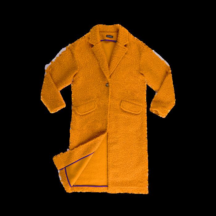Cappotto lungo giallo lavorazione shearling, Abbigliamento, 12G750756TSGIAL