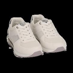 Baskets blanche en simili-cuir, Chaussures, 157311101EPBIAN035, 002 preview