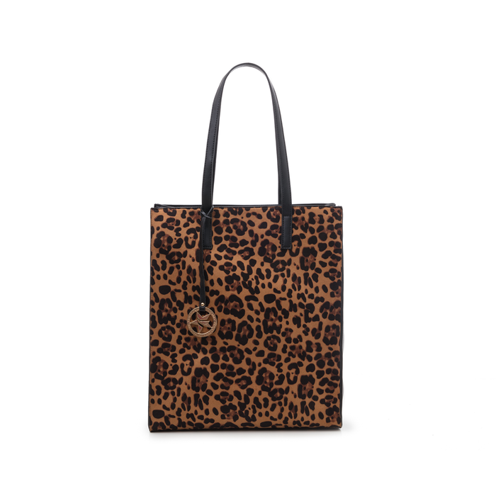 Maxi bag leopard in microfibra , Borse, 142900004MFLEOPUNI