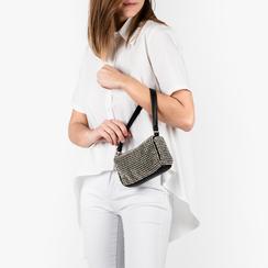Mini bag en eco-piel y pedrería color negro, Primadonna, 15F520054ETNEROUNI, 002a