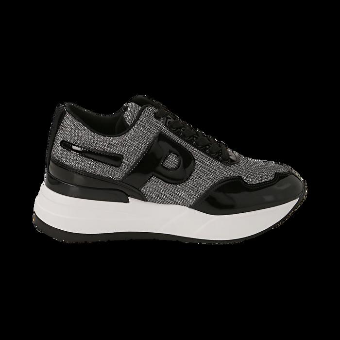 Sneakers canna di fucile glitter, suola 5,50 cm , Scarpe, 142898982GLCANN036