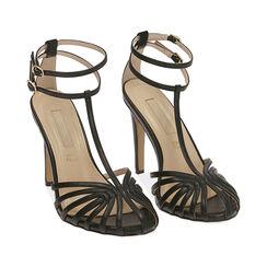 Sandali neri, tacco 10 cm , Primadonna, 172174211EPNERO036, 002 preview