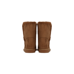 Scarponcini invernali scamosciati color cuoio, Scarpe, 125001041MFCUOI, 003 preview
