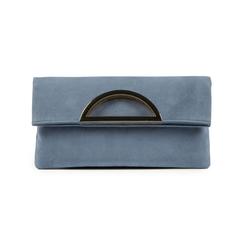 Pochette estensibile azzurra in microfibra, Borse, 155108717MFAZZUUNI, 001 preview
