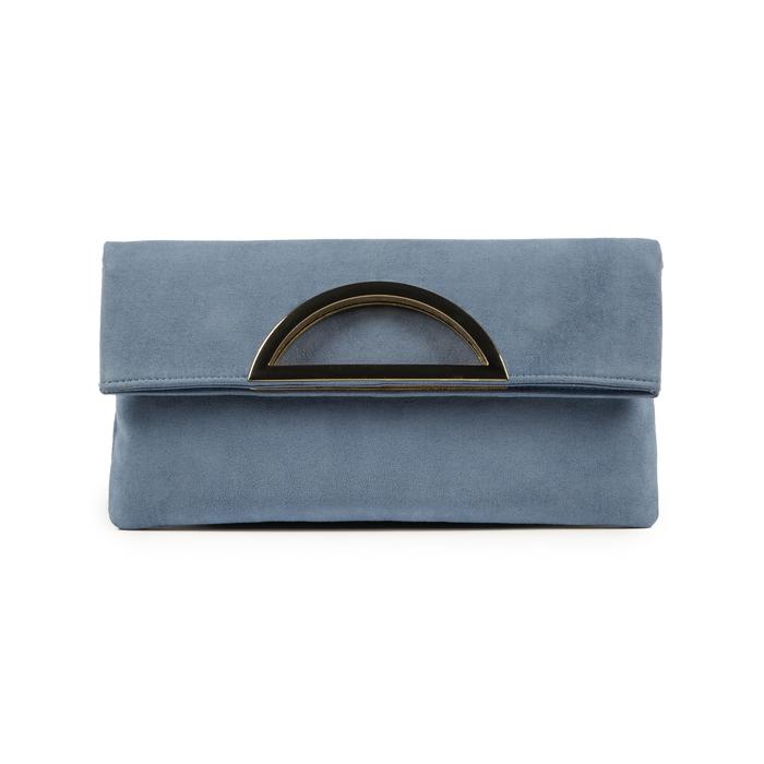 Pochette estensibile azzurra in microfibra, Borse, 155108717MFAZZUUNI