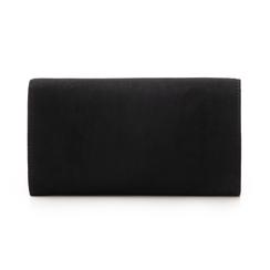 Pochette nera in microfibra con chiusura decor, Borse, 133322174MFNEROUNI, 003 preview