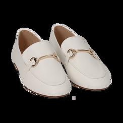 Mocasines eco-piel blanco, Zapatos, 154939181EPBIAN036, 002 preview