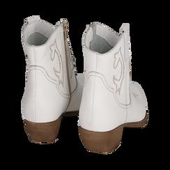 Camperas en piel color blanco, tacón 4 cm, Primadonna, 157732901PEBIAN036, 004 preview