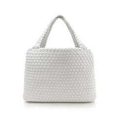 Maxi-bag bianca in eco-pelle intrecciata , Primadonna, 135786118EIBIANUNI, 003 preview