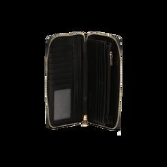 Portafoglio nero in microfibra, Saldi, 125709513MFNEROUNI, 004 preview