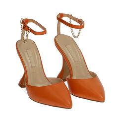 Slingback arancio, tacco 10 cm , Primadonna, 172190575EPARAN035, 002 preview