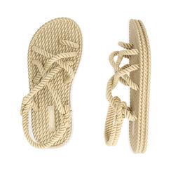 Sandali mare beige in tessuto , Primadonna, 170909002TSBEIG035, 003 preview