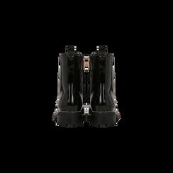 Anfibi vernice neri con lacci, tacco basso, Scarpe, 120609133VENERO, 003 preview