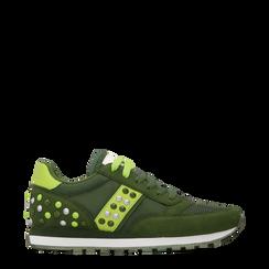Sneakers verdi color block, Primadonna, 122618834MFVERD035, 001a