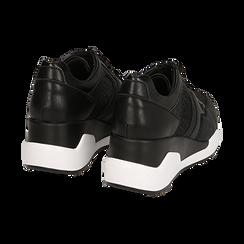 Sneakers nere, zeppa 7 cm , Primadonna, 162800947EPNERO036, 004 preview