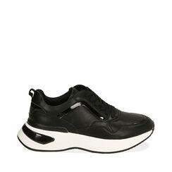 Sneakers nere, zeppa 5 cm , Primadonna, 182812426EPNERO035, 001a