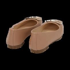 Bailarinas con hebilla de ecopiel en color nude , Zapatos, 154969811EPNUDE036, 004 preview