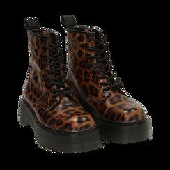 Botas militares con estampado de leopardo, Primadonna, 162800001EPLEMA036, 002 preview