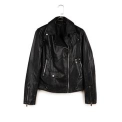 Biker jacket nera in eco-pelle, NUOVI ARRIVI, 156507781EPNEROL, 003 preview