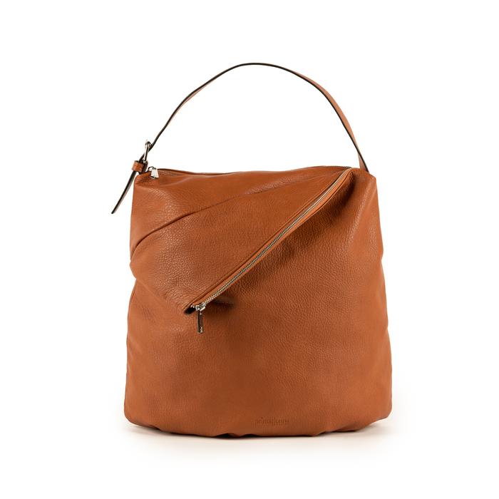 Maxi-bag  cuoio in eco-pelle, Primadonna, 151990171EPCUOIUNI