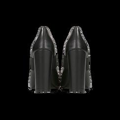 Décolleté nere con cinturino elastico, tacco 9 cm, Primadonna, 128485107EPNERO, 003 preview