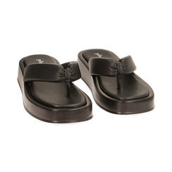 Sandali neri, zeppa 4 cm , Primadonna, 17A134336EPNERO035, 002 preview