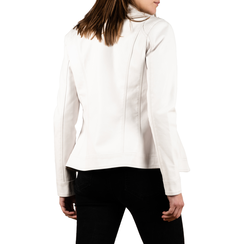 Veste de motard blanche en simili-cuir , Primadonna, 156501203EPBIANL, 002 preview