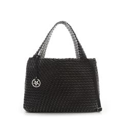 Maxi-bag nera in eco-pelle intrecciata , Borse, 135786118EINEROUNI, 001a