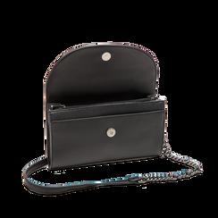 Pochette tracolla nera in ecopelle, Primadonna, 125708835EPNEROUNI, 004 preview
