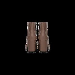 Tronchetti taupe con punta affusolata, tacco alto, Scarpe, 128485161EPTAUP, 003 preview