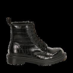 Amphibiens noirs imprimé croco , Primadonna, 162801501CCNERO036, 001a