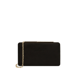 Clutch en microfibra color negro, GIFT IDEAS, 165109588MFNEROUNI, 001a