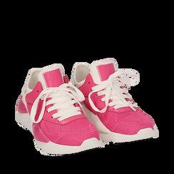 Dad shoes en tejido tecnico color fuxia, Zapatos, 15F609059TSFUCS035, 002a