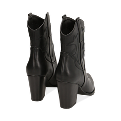 Camperos neri, tacco 8,5 cm , Scarpe, 170581020EPNERO035, 004 preview